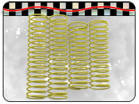 Yellow soft big bore shock springs 40645