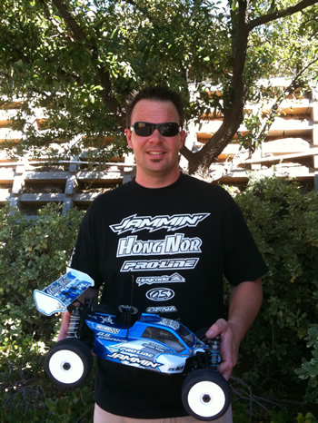 Chad Bradley on the way to the 2010 IFMAR Worlds